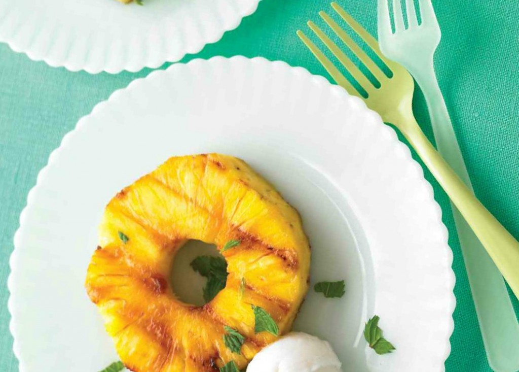 grilled bbq pineapple