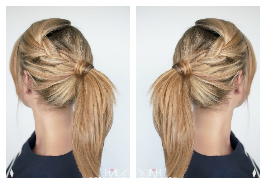 style a ponytail: braided