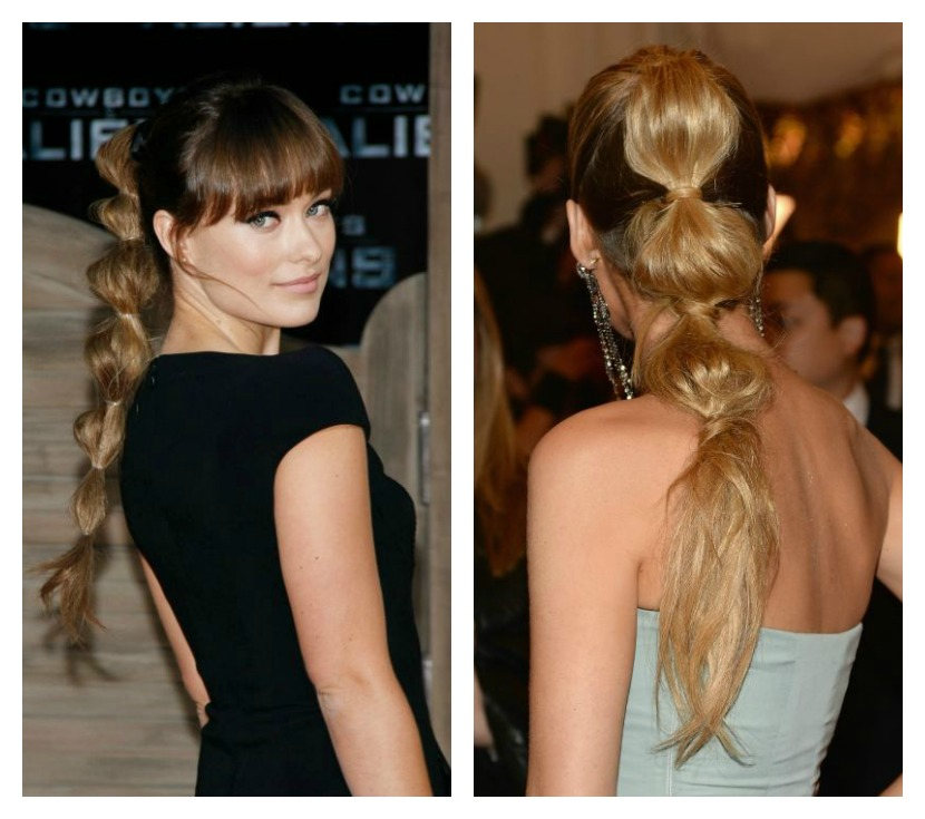 style a ponytail : bubble