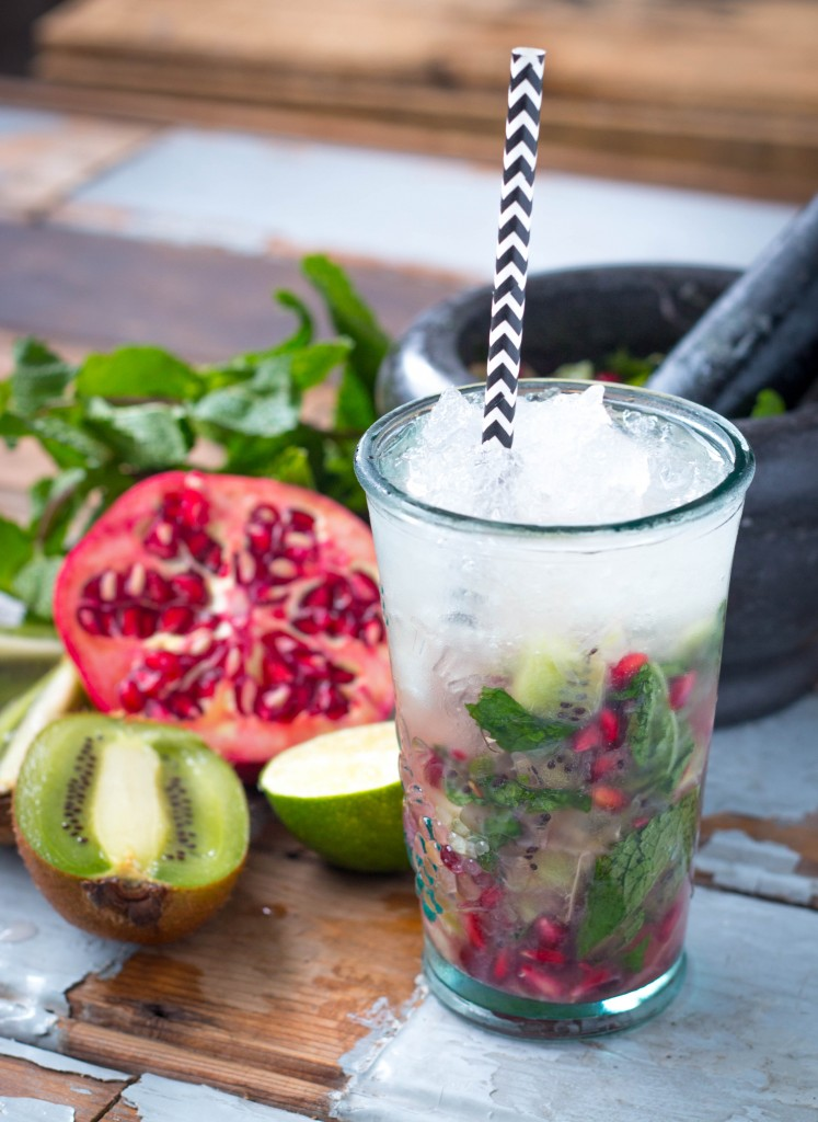 OMEGRANATE MOJITO MOCKTAIL