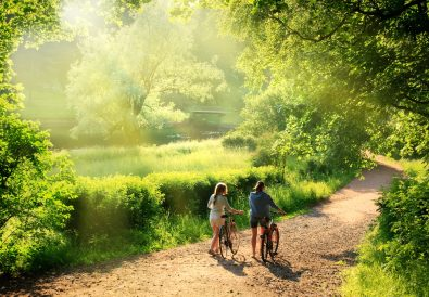 Rural cycling route